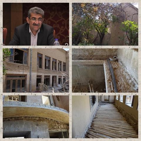 تنها خانه تاریخی و ثبتی داراب در دست مرمت