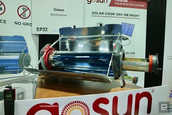 اجاق خورشیدی قابل حمل که گوشی را هم شارژ می نماید