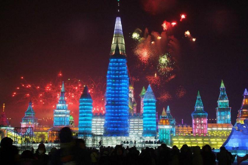 تماشا کنید؛ جشنواره زمستانی یخ و برف هاربین چین