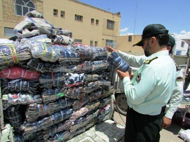 کشف 21 ثوب البسه آغشته به مواد مخدر در گمرک بازرگان