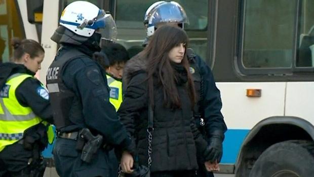 بازداشت 200 تن در تظاهرات دانشجویان مونترال کانادا