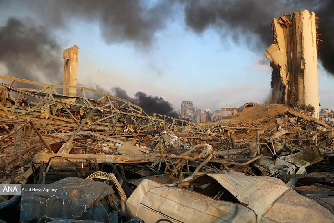 بندر بیروت دوباره آتش گرفت