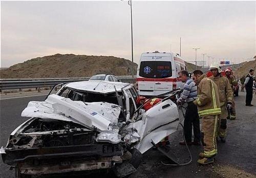 سانحه رانندگی در بوئین زهرا 3مصدوم برجای گذاشت