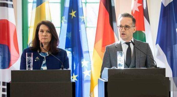 خبرنگاران وزیران خارجه آلمان و سوئد به اردن می فرایند