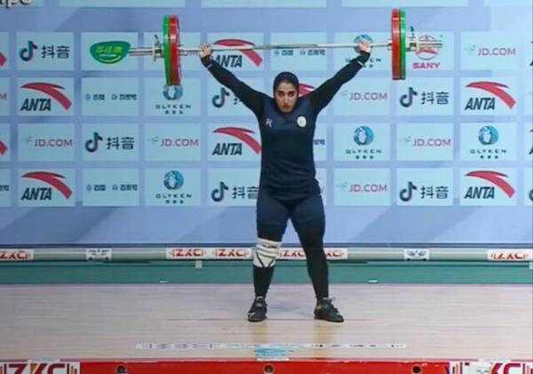 پنجمی الهام حسینی در وزنه برداری قهرمانی آسیا، الناز باجلانی ششم شد