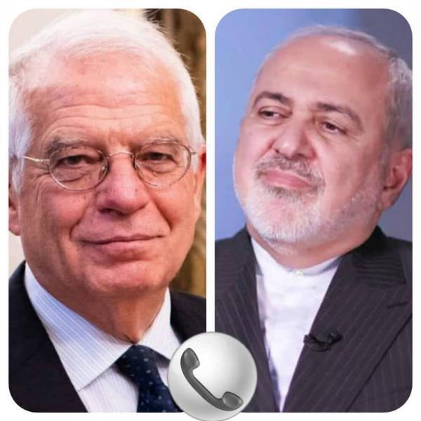 ظریف در مصاحبه با بورل: تداوم تحریم های آمریکا قابل قبول نیست