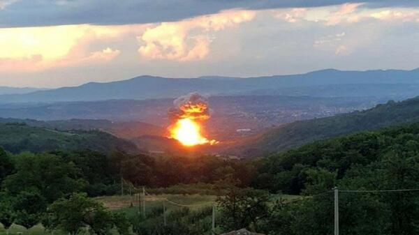 وقوع انفجاری مهیب در یک کارخانه مهمات سازی