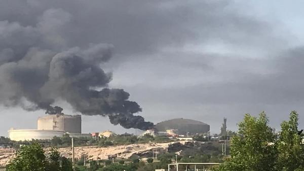 آتش سوزی در پتروشیمی خارک